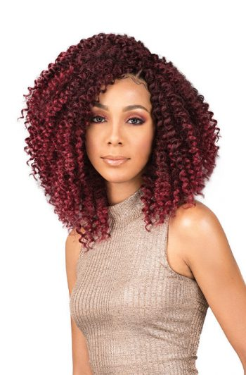"Bobbi Boss Brazilian Water Curl 10"" Crochet Hair Front"