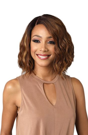 Bobbi Boss Lace Front MLF196 Marilyn Swiss Lace Premium Synthetic Wig Model Front