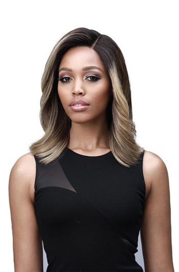 Bobbi Boss MLF366 Harlow Lace Front Wig Model Front 1