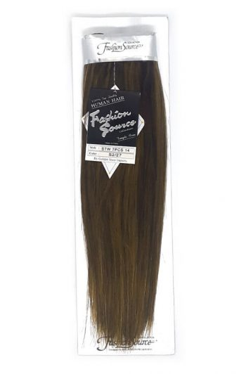 """Fashion Source Human Hair 7 Piece Clip-in 14"""" Extensions"""