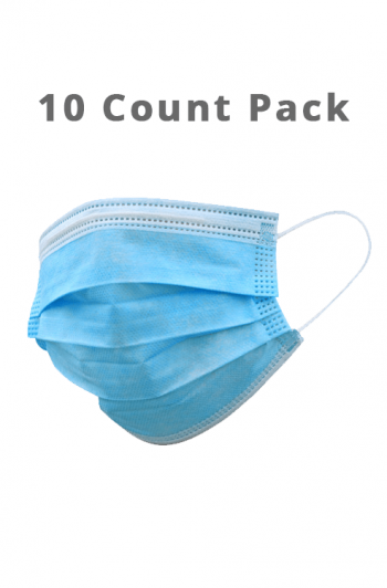 Disposable Face Masks - 10 ct Pack