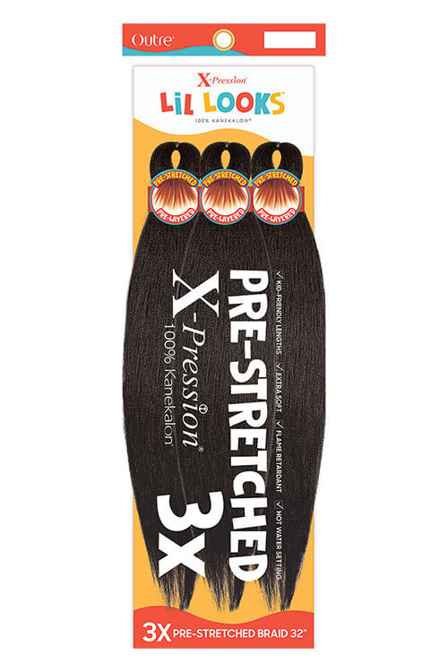 """Outre X-Pression Lil Looks Pre-Stretched 32"""" Braid 3x Pack"""
