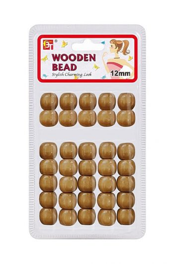 Beauty Town Brown 12mm Wooden Beads #07544