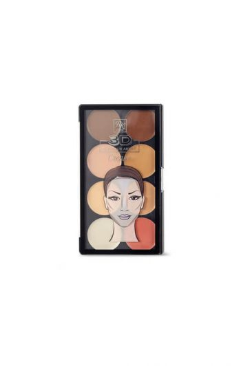 Ruby Kisses 3D Contour Artist Cream Palette Light