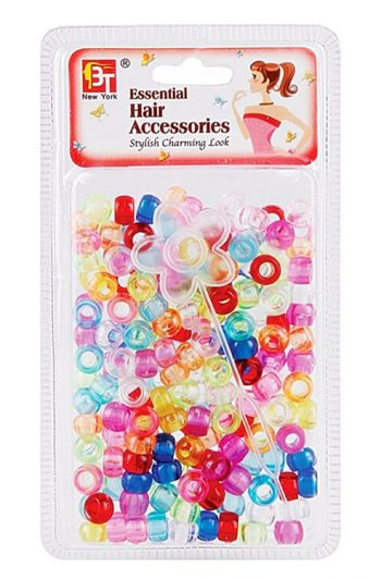 Beauty Town Small Round Beads Clear Assorted