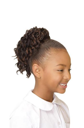Eve Hair My Angel Kid-4 Drawstring Synthetic Ponytail Side