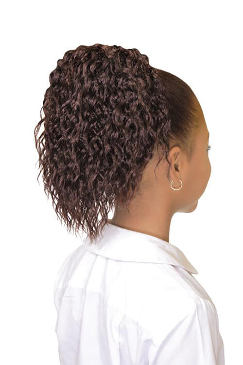 Eve Hair My Angel Kid-6 Drawstring Synthetic Ponytail Back