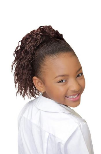 Eve Hair My Angel Kid-6 Drawstring Synthetic Ponytail Front