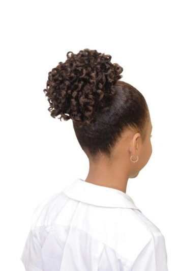 Eve Hair My Angel Kid-7 Drawstring Synthetic Ponytail Back