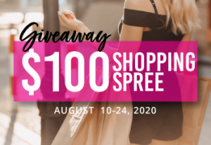$100 Giveaway Shopping Spree Aug. 10 - 24