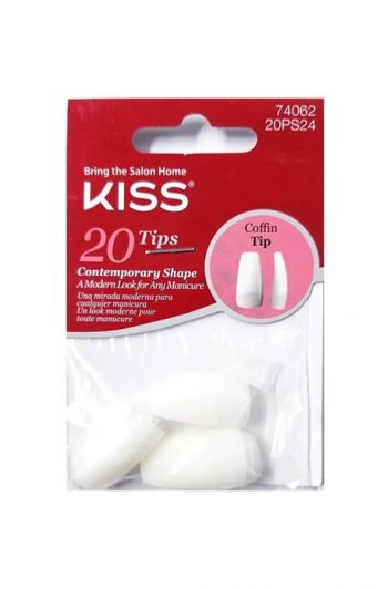 Kiss Coffin Tip Nails 20 Ct