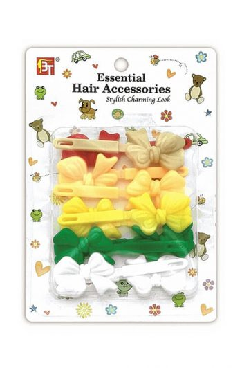 Beauty Town Kids Gift bow Barrettes Assorted