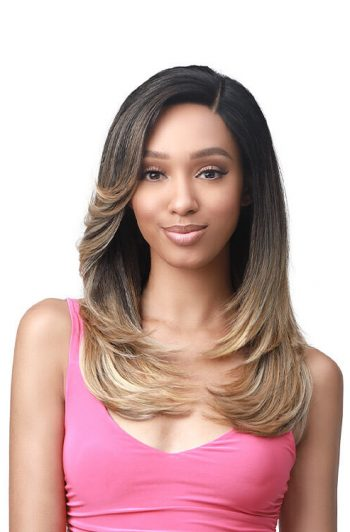 """Bobbi Boss MLF361 Beverly 4.5"""" Deep HD Lace Part Premium Synthetic Wig Model Front"""