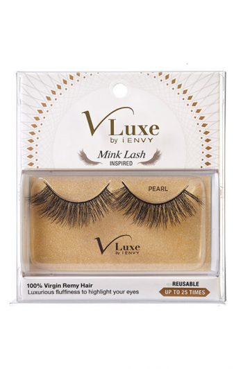 KISS i-Envy V-Luxe Mink Lash Inspired 100% Virgin Remy Lashes Pearl Box