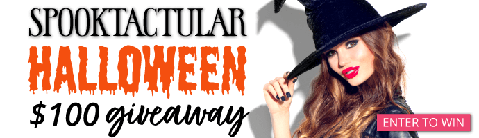 Spooktactular Halloween $100 Giveaway. Go here for details and to enter.