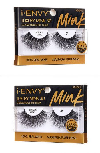 Kiss i-Envy Luxury Mink 3D Collection KMIN01 Packaging Angles