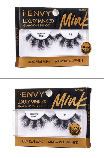 Kiss i-Envy Luxury Mink 3D Collection KMIN02 Packaging Angles