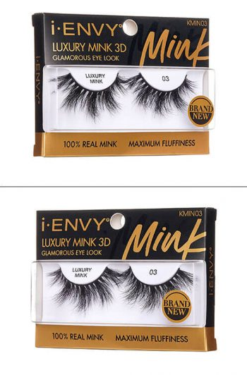 Kiss i-Envy Luxury Mink 3D Collection KMIN03 Packaging Angles