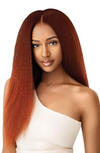 """Outre Kinky Straight 18"""" Clip-Ins Red Copper Model"""