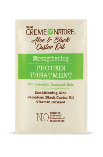 Creme of Nature Aloe and Black Castor Oil Strengthening Protein Treatment Packet 1.5 oz