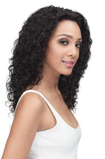 Bobbi Boss MHLF410 Emory 100% Unprocessed Bundle Remy Hair Lace Front Wig Side
