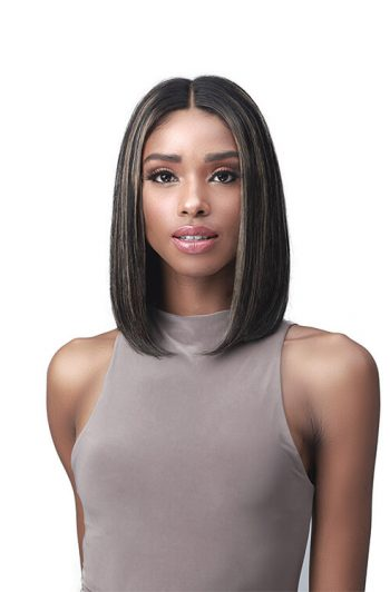 Bobbi Boss MHLF560 Evelina 100% Unprocessed Human Hair Lace Front Wig Front