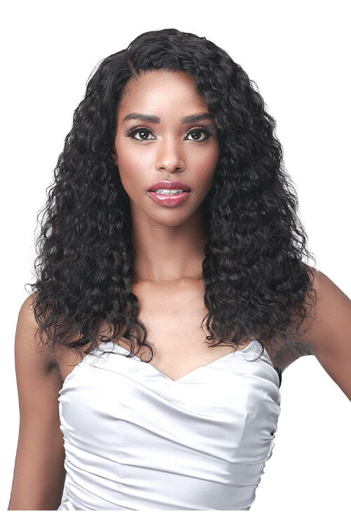 Bobbi Boss MHLF564 Cheryl 100% Unprocessed Human Hair Lace Front Wig Front