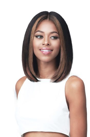 Bobbi Boss MHLP0007 Marcy 100% Unprocessed Human Hair Lace Part Wig Front