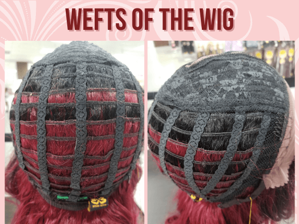 Wefts of the wig