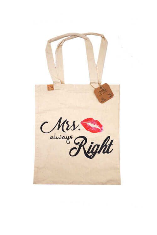 Joia Tote Bags Mrs Always Right Design
