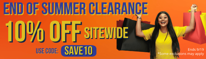 End of Summer Clearance. 10% off sitewide with code SAVE10. Some exclusions may apply. Ends 9/19/21.